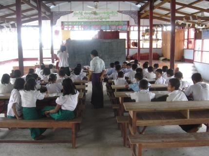 Classe dans un monastère
