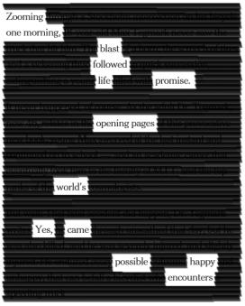 poeme blackout