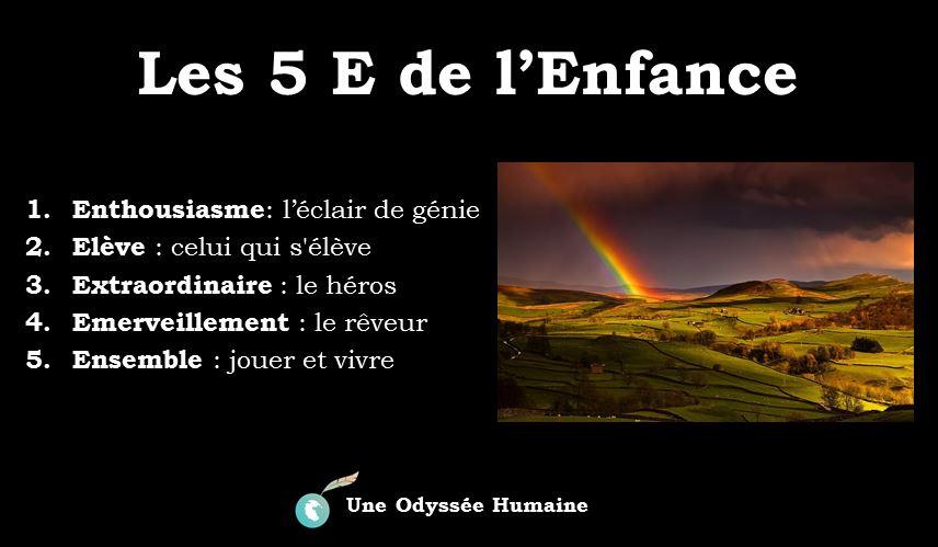 Monde De Merveilles Les 5 E De L Enfance Odyssee Humaine