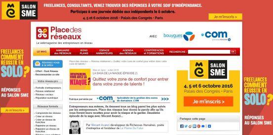 Place Réseaux article