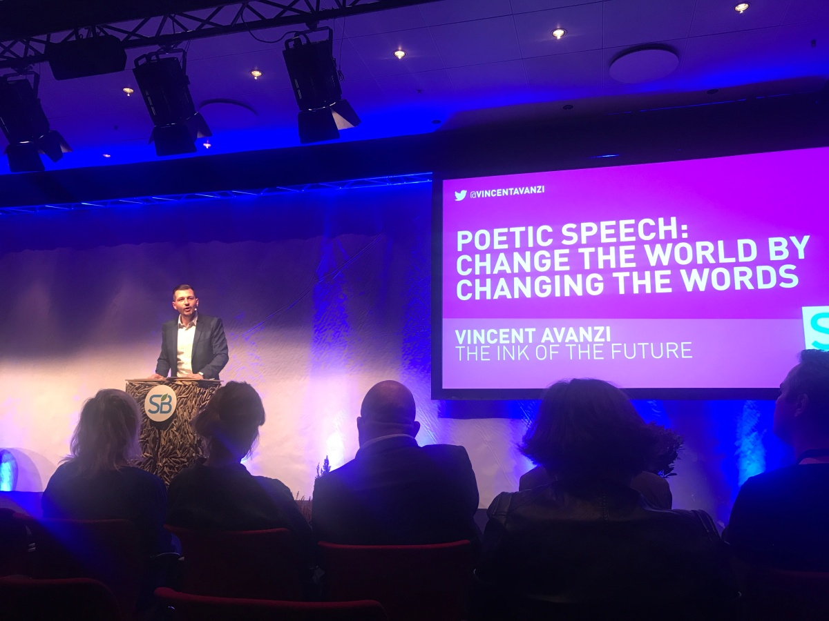{SUSTAINABLE BRANDS Poetic Speech} Change the world by changing the words