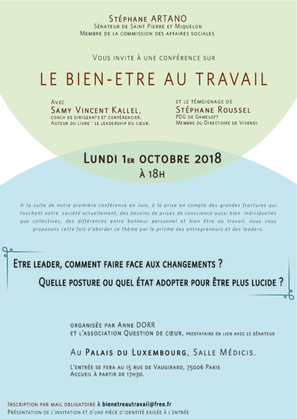 Invitation conference bien être au travail 1 er Octobre (1)